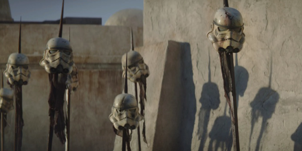 The Mandalorian Season 1's Best Easter Eggs - Stormtrooper Helmets