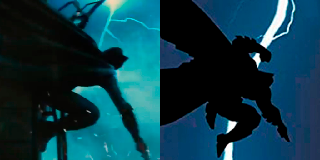 The Best Comic Book Panels Recreated in DC Movies - The DKR Jump