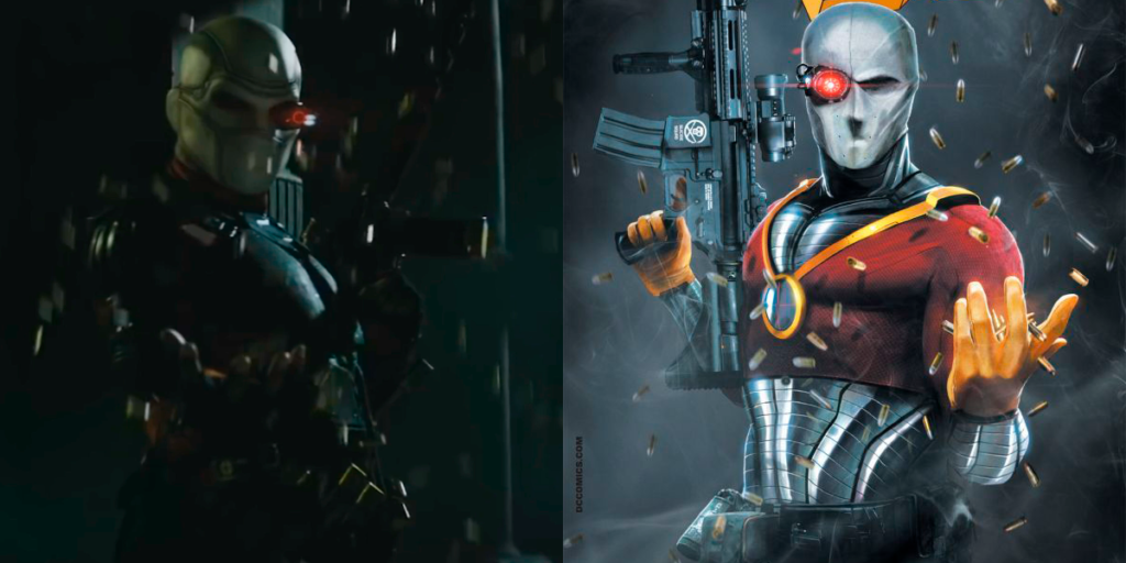 The Best Comic Book Panels Recreated in DC Movies - Deadshot's Bullet Rain
