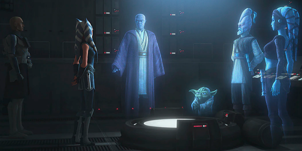 Clone Wars Season 7's Best Easter Eggs, Cameos and References - The Council and Ahsoka
