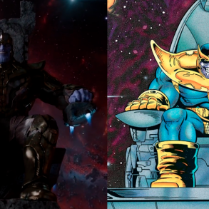 The Best Comic Book Panels Recreated in the MCU - Part 3 - Thanos on His Throne