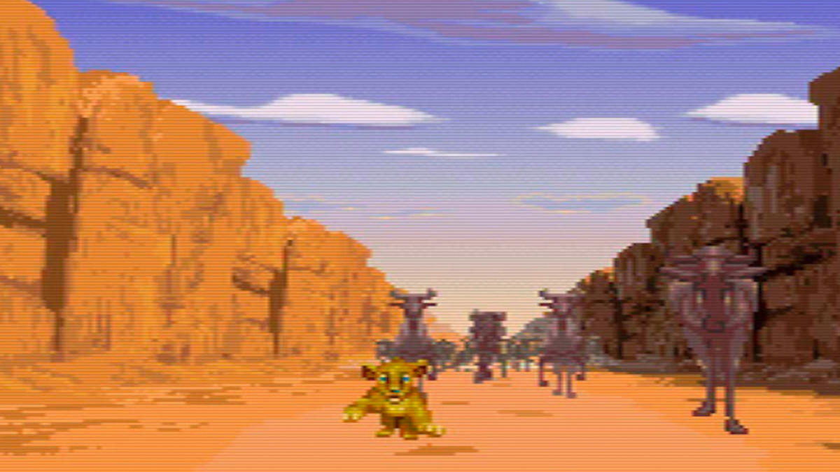 Aladdin and The Lion King - Simba Running